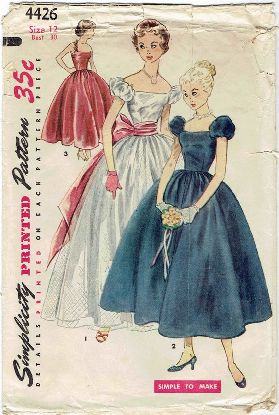 50s Evening Dresses for Teenagers