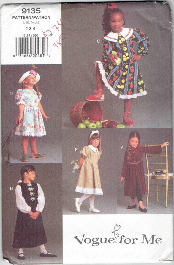 Mode für mich Kinder Schnittmuster 9135. Einfach Party-Kleid | Etsy