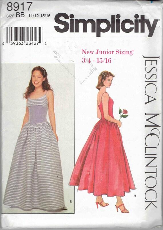 Jessica McClintock Formal Prom Kleid Schnittmuster Simplicity | Etsy