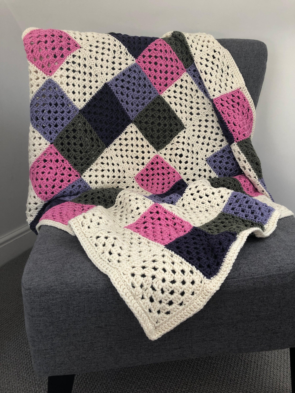 Spring Garden Grandma Square Merino Wool and Cashmere Square Blanket