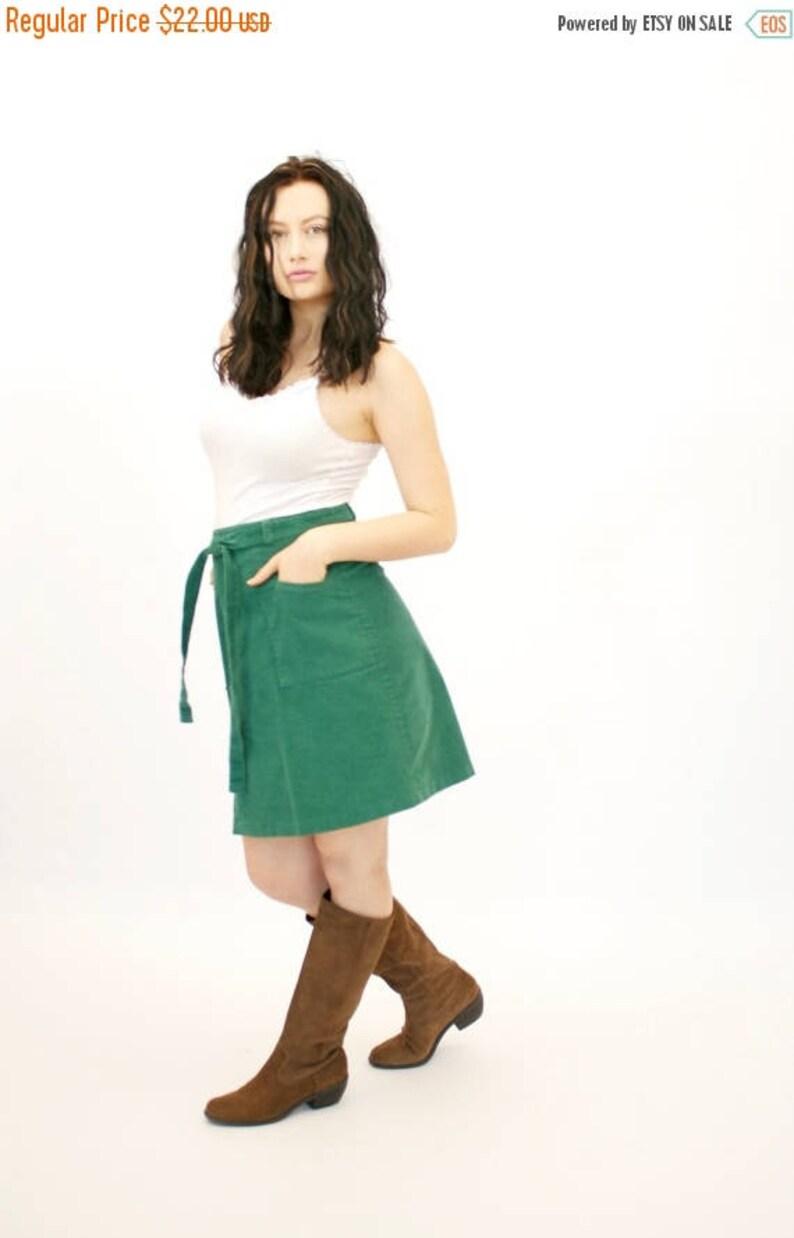 b178d6c82f 20% OFF SALE 70's Vintage Mini Skirt Short Skirt Emerald | Etsy