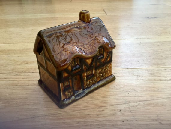 1950s Money Box Piggy Bank Tudor Cottage House Vintage