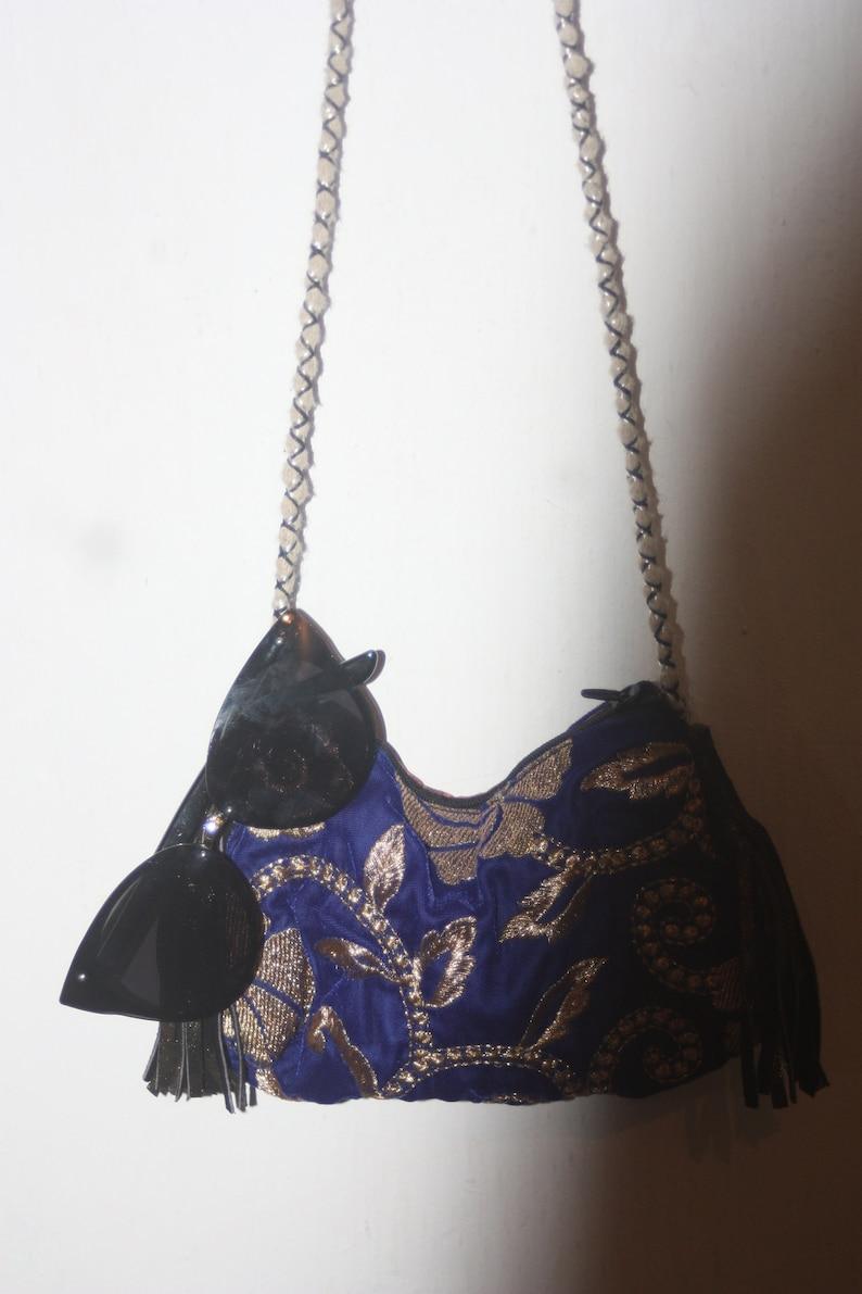 d43138ad7ad1f0 OOAK velvet purse little shoulder bag travel purse unique   Etsy