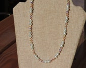 Crystal and Glass Pearl Necklace