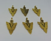 6 Arrow Heads - Gold Toned
