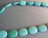 Turquoise Colored Oval Beads