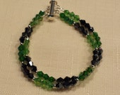 Green and Black Crystal Bracelet