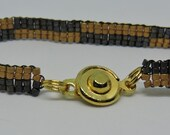 Gray and Gold Bracelet #1
