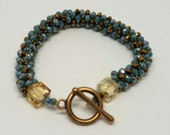 Blue Turquoise  and Brown Bracelet