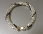 Bead Crochet Bracelet - Amethyst