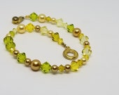 Shades of Yellow & Green Bracelet