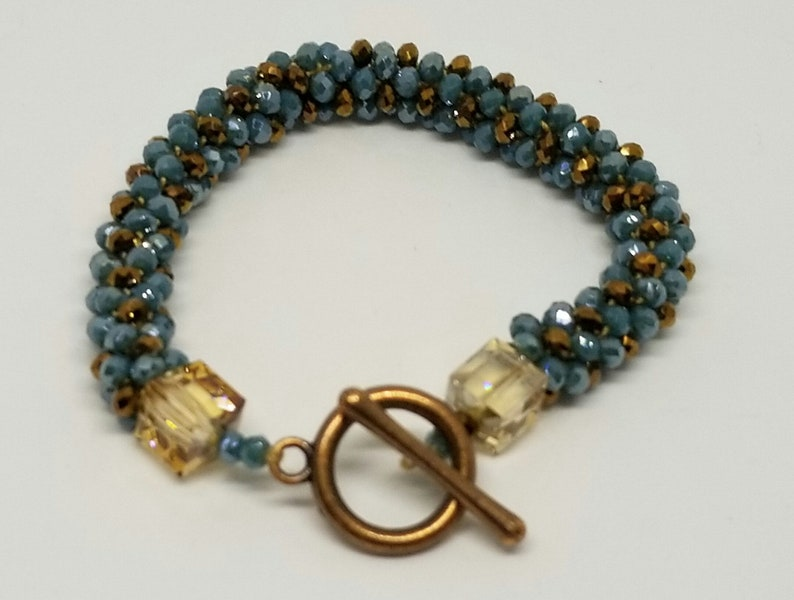 Blue Turquoise  and Brown Bracelet image 0