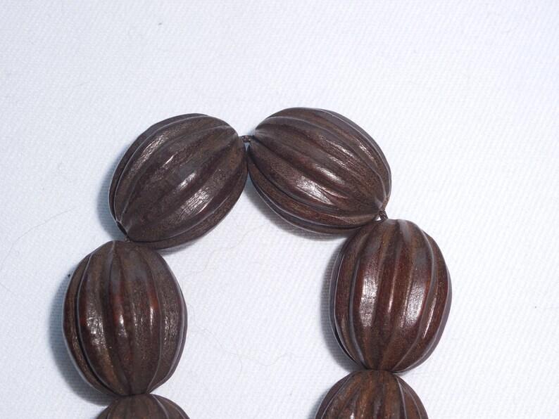 Dark Brown Wooden Beads image 0