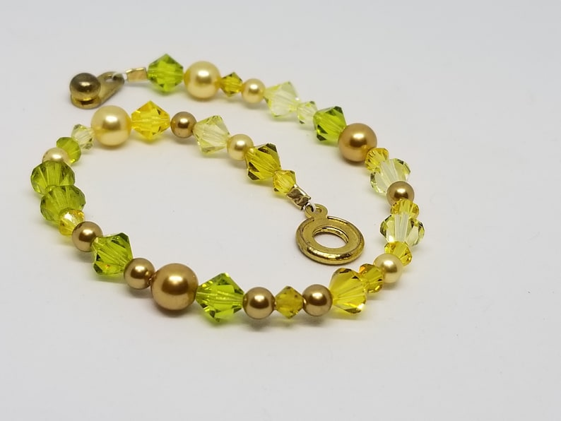 Shades of Yellow & Green Bracelet image 0