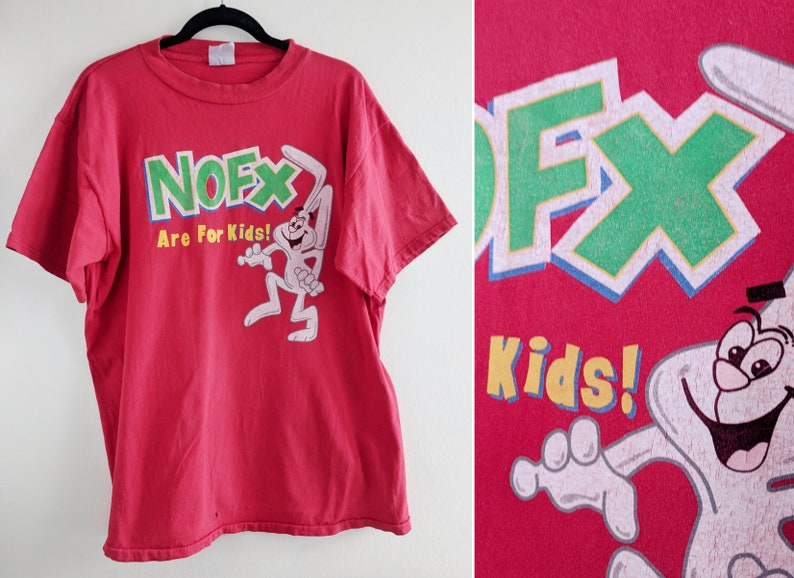 24078ab64b7cd 90s NOFX Are For Kids Trix Cereal Parody Red T-Shirt