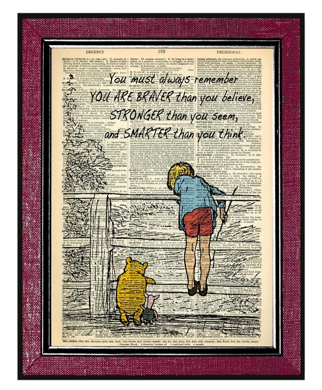 Winnie The Pooh Quote Art: WINNIE The POOH Quote Winnie The Pooh Birthday Book Art
