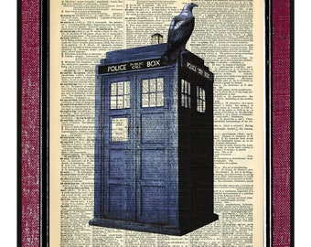 DOCTOR WHO TARDIS Print Gifts For Boyfriend Dictionary Print Dr Who Gifts For Him Boyfriend Gifts Gift For Her Doctor Who Print