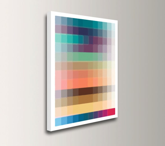 "Canvas Art - Large Wall Art on Canvas - Colorful Modern Wall Decor - Geometric Art - ""Swatch"""