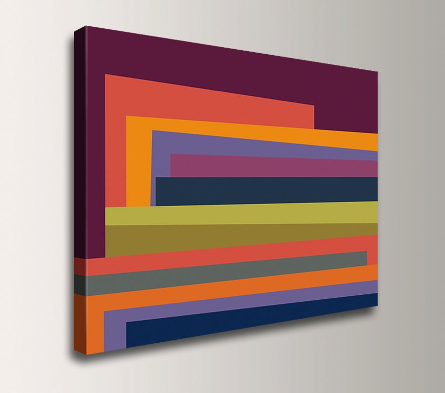 Colorful Wall Art - Line Art - Gallery Wrap - Canvas Print ...