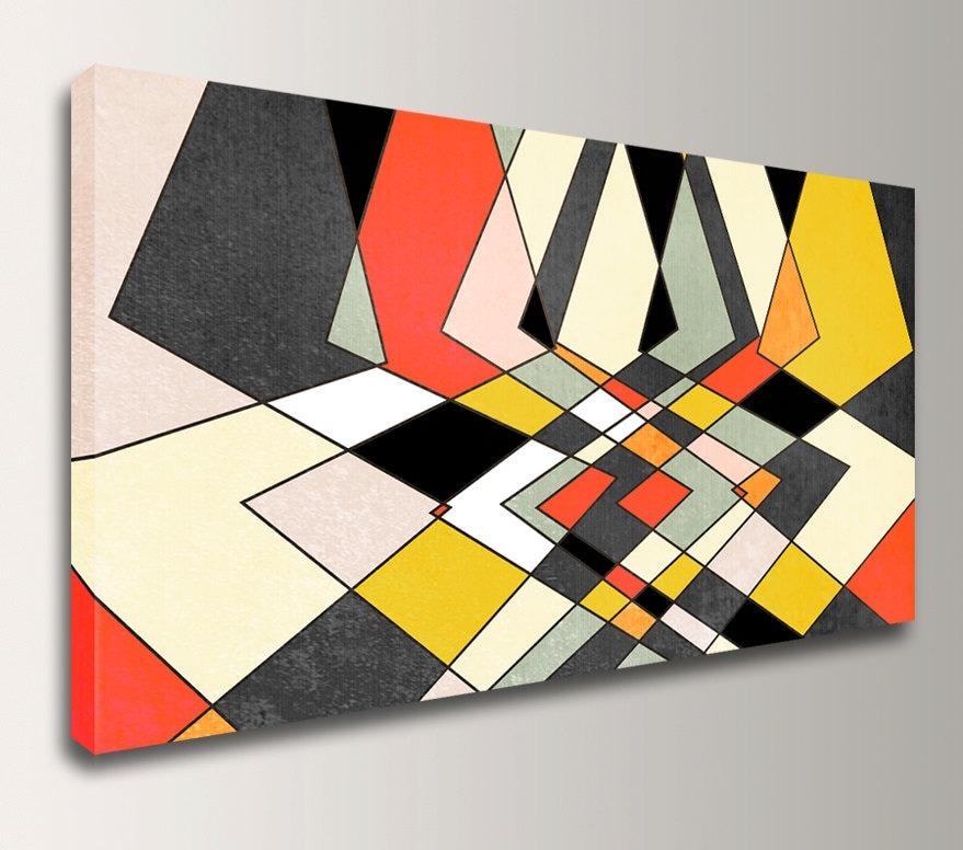 7439d6aebd0 Modern Art Print Canvas Print Mid Century Modern Geometric Art - Grey