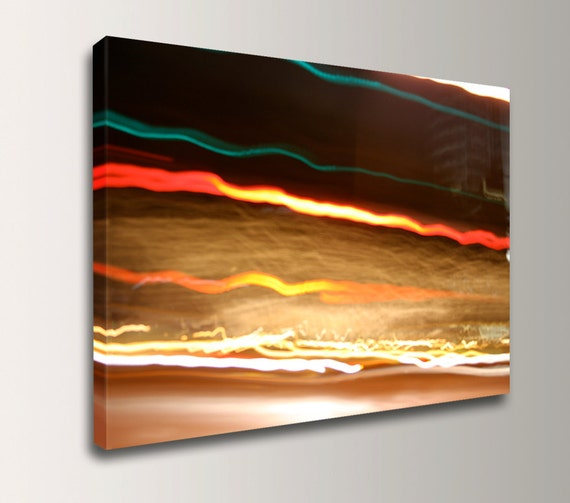 "Abstract Photography - Canvas Print - Urban Photography - Night Photography - Modern Art - Canvas Wall Art - "" Fleeting """
