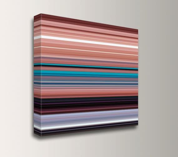 "Stripes - Line Art Painting - Modern Southwest Canvas Print - Square Wall Art - "" ABQ """