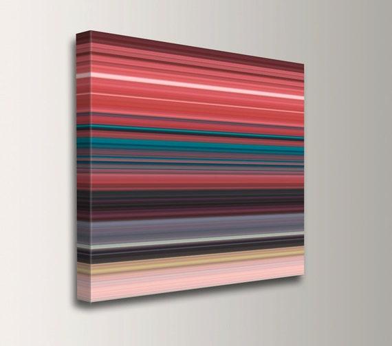 "Canvas Print - Stripe Painting - Line Art - Colorful Wall Art - Large Modern Art - "" Santa Fe """