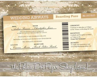 Passport Wedding Invitation Boarding Pass Invite Wedding | Etsy