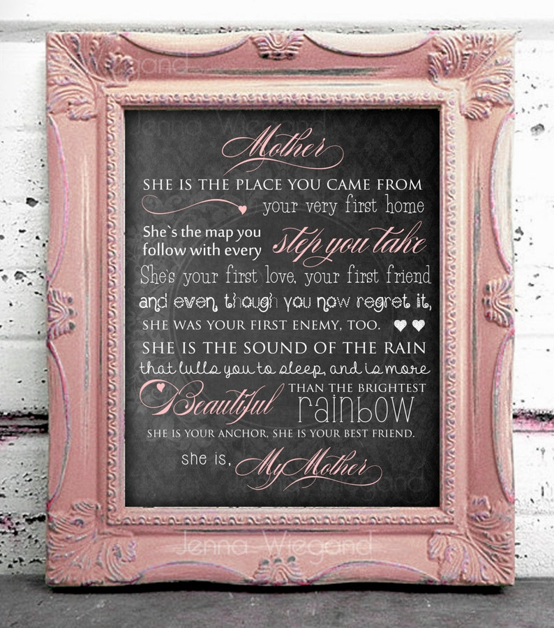 INSTANT DOWNLOAD Mother's Day Gift, 8x10 poster print at home! New Mom gift  new baby gift