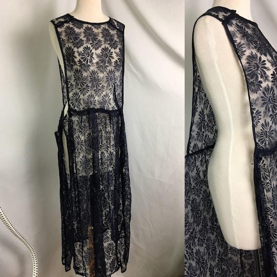 1920s Lace Slip Dress Overlay