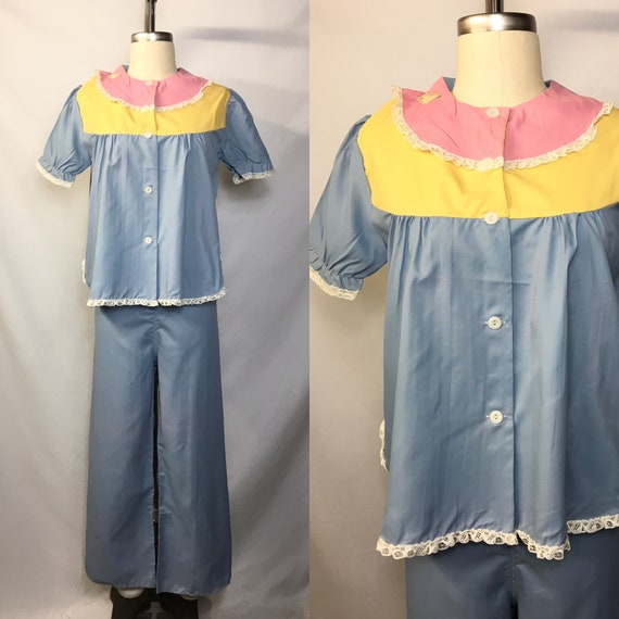 1940s 1950s Deadstock Pajama Set Vintage Sleepwear