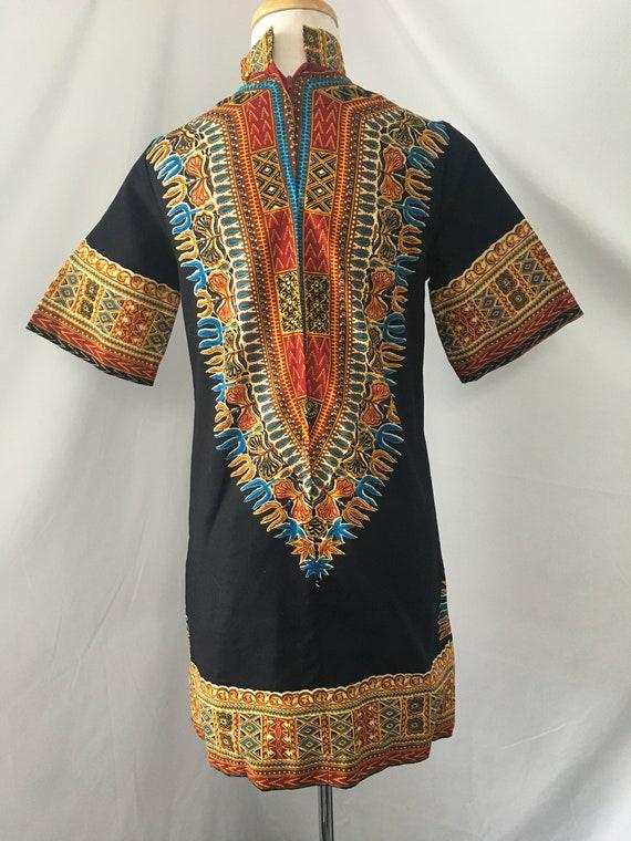 1960s Dashiki Mini Dress - image 4