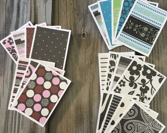 """20-Assorted Vintage/Black/White Blank Mini Note Cards  (3 1/2""""x2  1/2"""")& Envelopes-Tags Also Available-Gifts/Thank You Cards/Lunch Box Cards"""