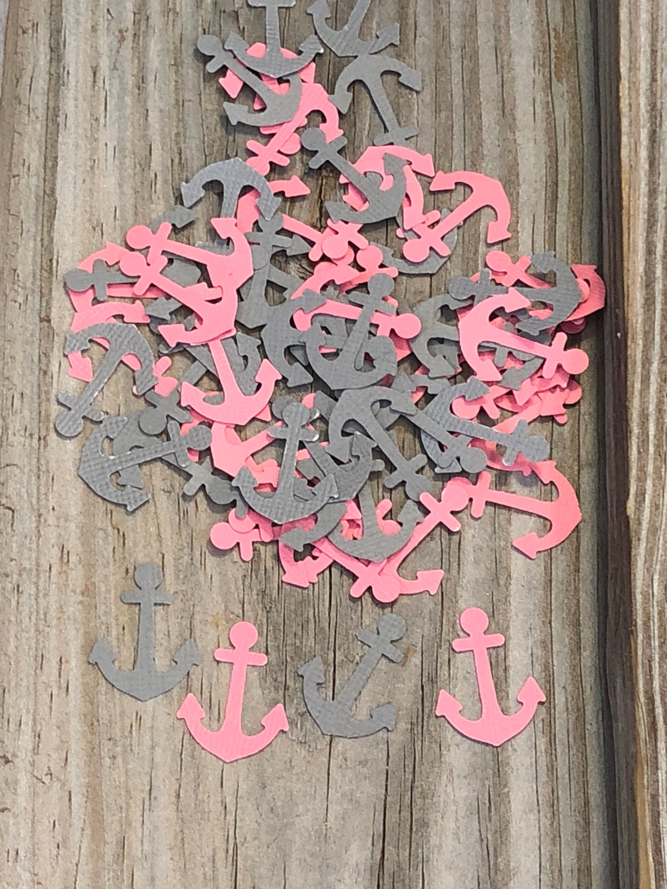150 Pieces of Nautical Anchor Confetti - Baby Shower/Birthday Party ...