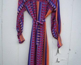 SPRING SALE Penny Lane 100% silk feathers dress