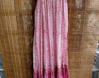 Lorea Phool  Indian gauze dress in pink shadows