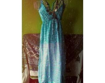 SALES Piece of my heart vintage sari silk Indian gown