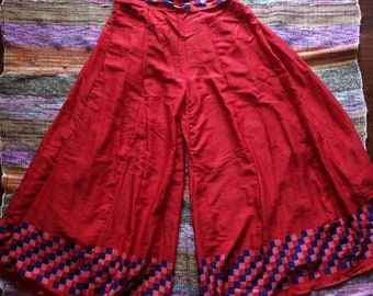 SALES Muladhara Bell bottoms in silk from vintage saree