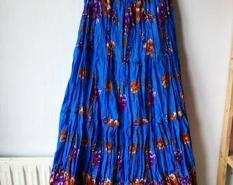 Summer sky Thai gauze long skirt