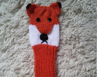 Fox Golf Cover, Fathers Day Golf Gift, Knit Golf Cover, Fox Knit Golf Club Cover, Gift for Him, Gift for Her