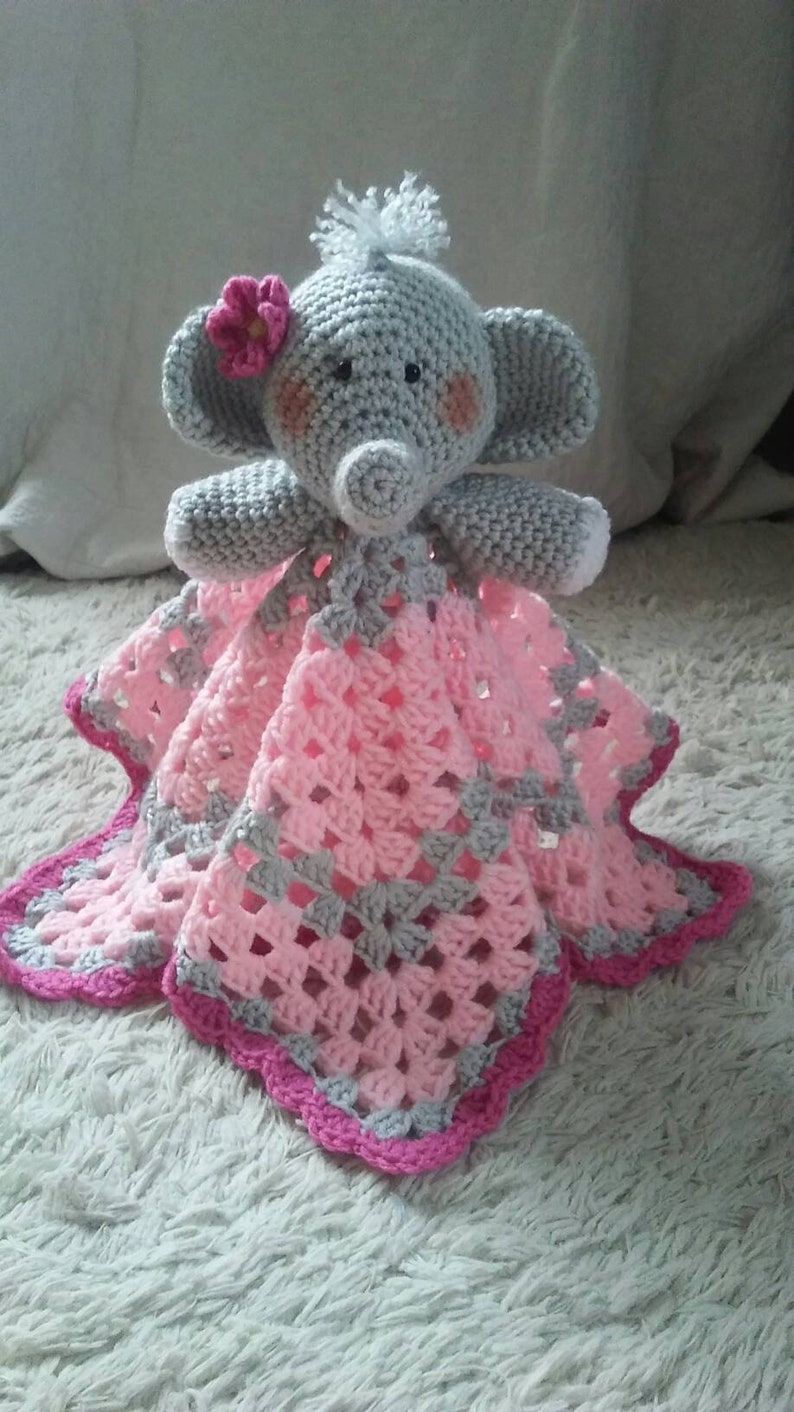 Ellie the Elephant Lovey- Free Pattern - A Purpose and A Stitch | 1412x794