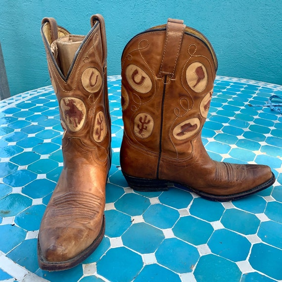SQUARE TOE COWBOY Boots w/ Assorted Inlays