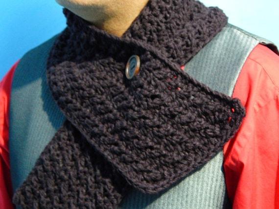 Patrón ganchillo para bufanda de hombre en Inglés