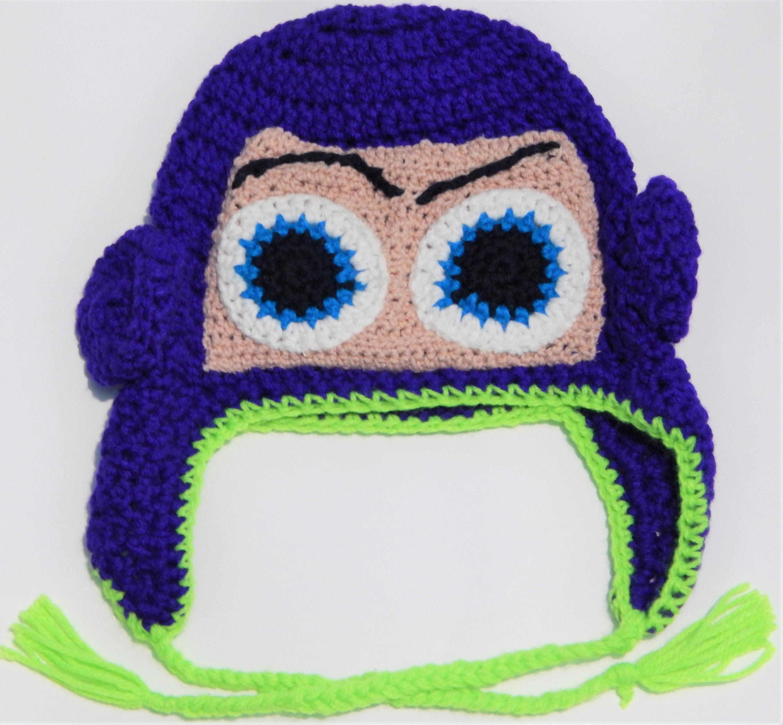 Patrón ganchillo para Buzz Lightyear Gorro para niño 4 años  87f0a508b3c
