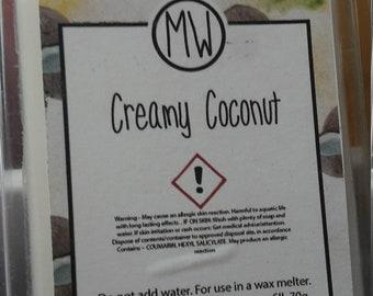 Wax melt Clamshell Creamy Coconut