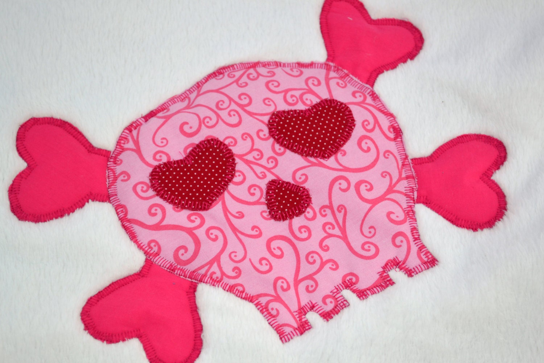 Pink Skulls Fleece Baby Blanket Quilted Toddler Blanket Etsy