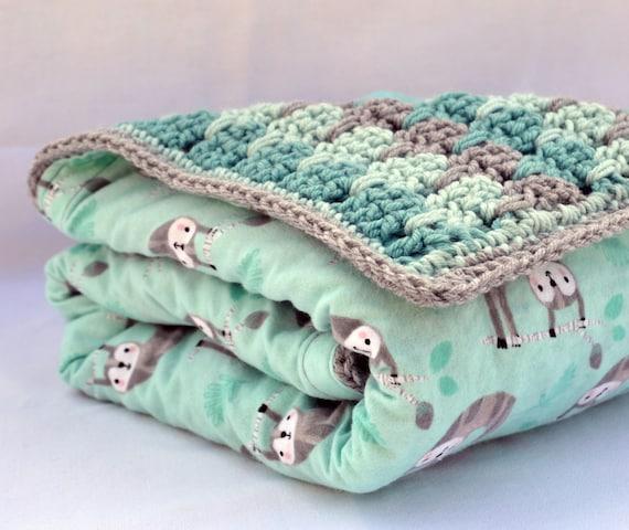 Faultier häkeln Babydecke Baby-Dusche-Geschenke | Etsy