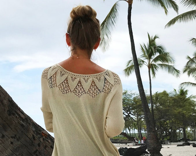 HAWAII Blouse Pullover (PDF) Knitting Instructions