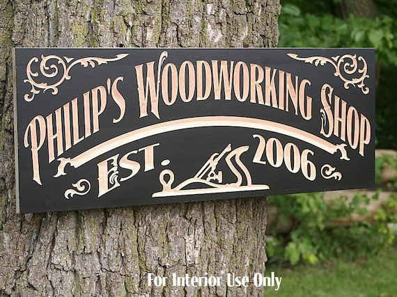 Personalized Man Cave Sign - woodworking gift for dads