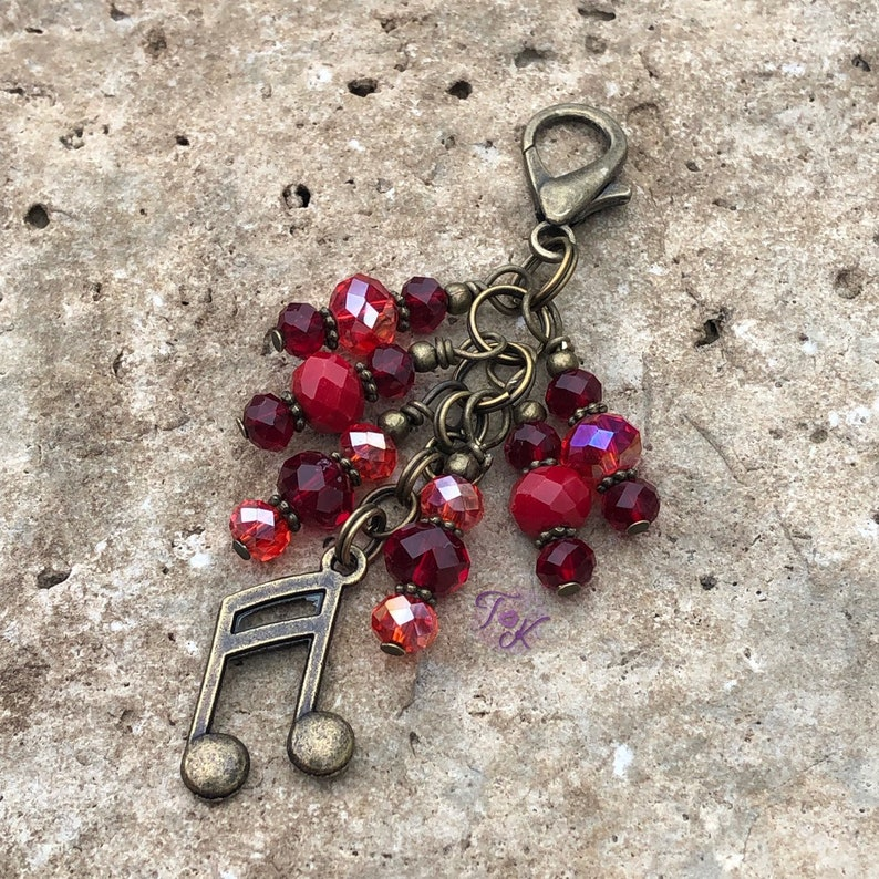 Bag Charm Gift for Music Lover Purse Bling Bag Bling Musician Purse Charm Music Notes Purse Charm Bronze Musical Notes Purse Charm
